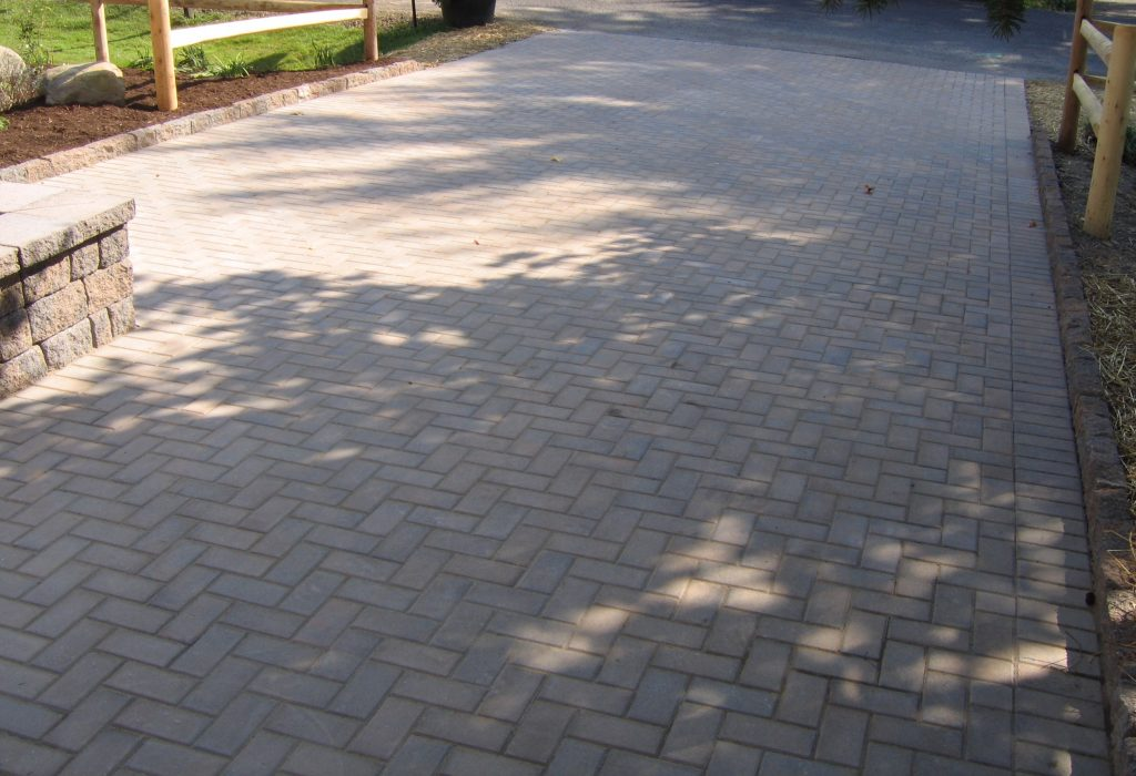Concrete Curbing used as an edge restraint