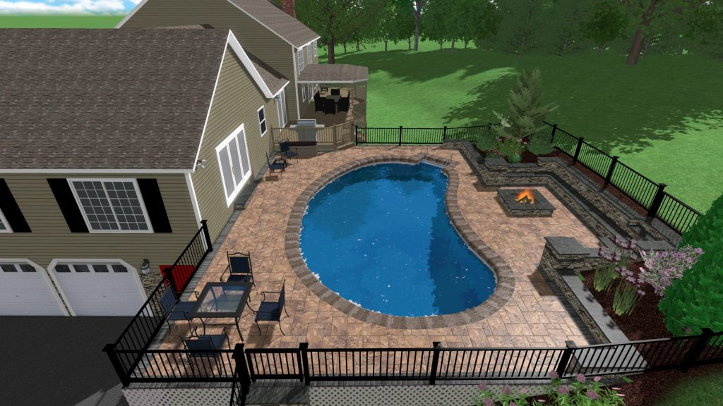 Paver Design as part of a hardscape bid